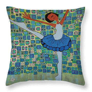 Daizies' Ballet Throw Pillow