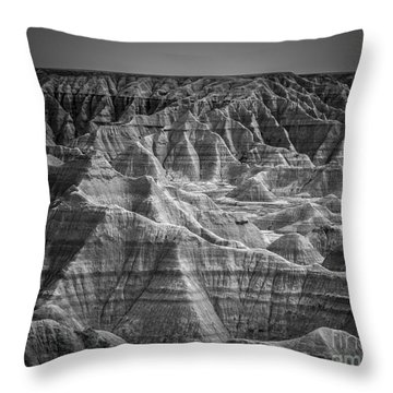 Dakota Badlands Throw Pillow by Perry Webster