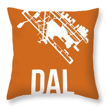 Dal Dallas Airport Poster 2 Throw Pillow