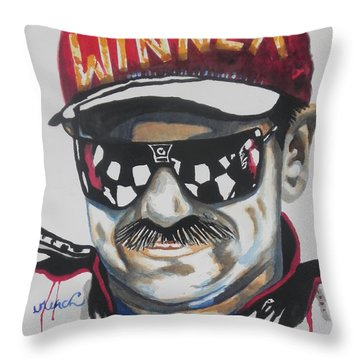 Dale Earnhardt Sr Throw Pillow