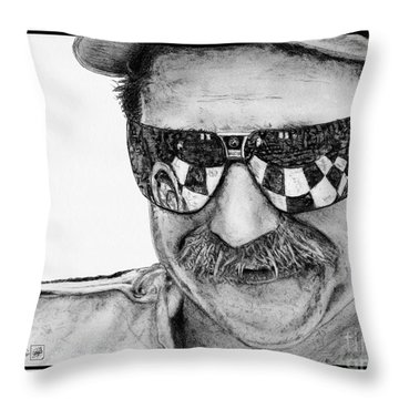 Dale Earnhardt Sr In 1995 Throw Pillow