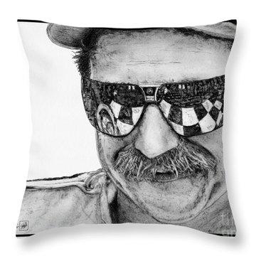 Dale Earnhardt Sr In 1995 Throw Pillow