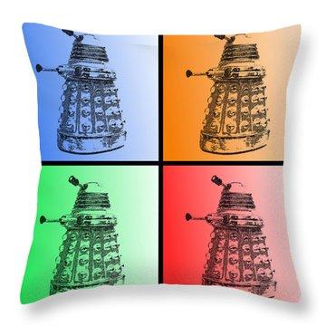 Dalek Pop Art Throw Pillow