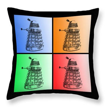 Dalek Pop Art Throw Pillow