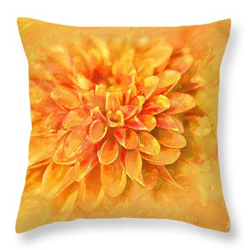 Throw Pillow featuring the photograph Dalhia Abstract by Linda Blair