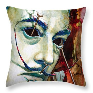 Throw Pillow featuring the painting Dali 2 by Laur Iduc