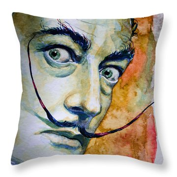 Dali Throw Pillow by Laur Iduc