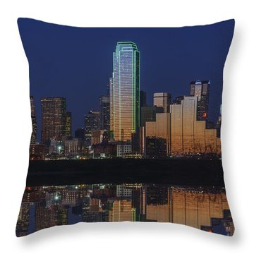 Dallas Aglow Throw Pillow by Rick Berk