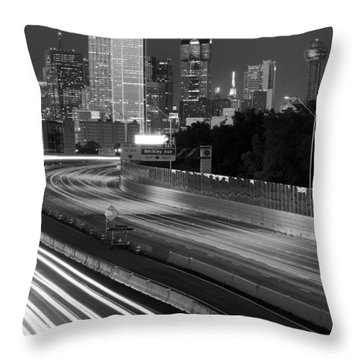 Dallas Arrival Bw Throw Pillow