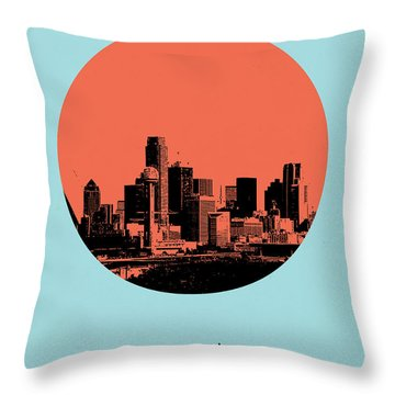 Dallas Circle Poster 1 Throw Pillow