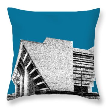 Dallas Skyline City Hall - Steel Throw Pillow