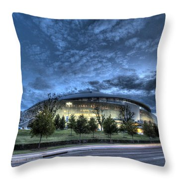 Dallas Cowboys Stadium Throw Pillow
