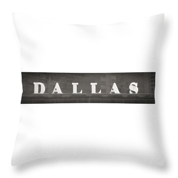 Throw Pillow featuring the photograph Dallas by Darryl Dalton