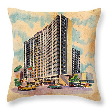 Dallas Hilton Throw Pillow