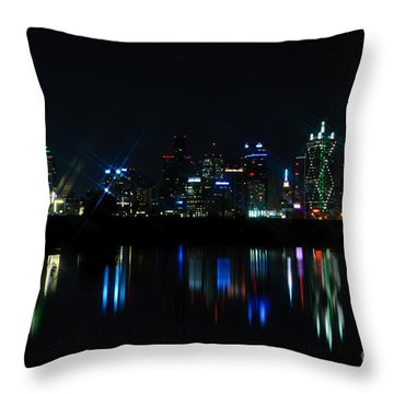 Dallas Reflections Throw Pillow by Charles Dobbs