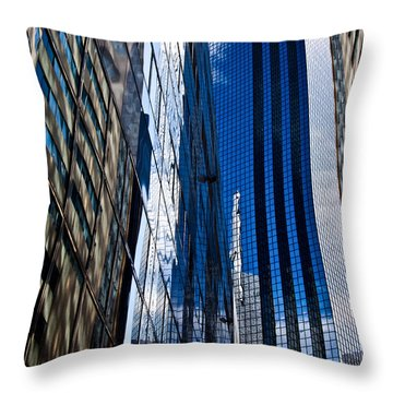 Dallas Reflections Throw Pillow by Mark Alder