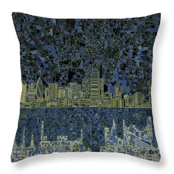 Dallas Skyline Abstract 2 Throw Pillow