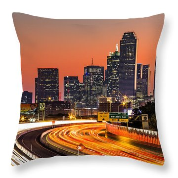 Dallas Sunrise Throw Pillow by Mihai Andritoiu