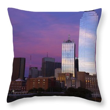 Dallas Sunset Throw Pillow