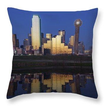 Dallas Twilight Throw Pillow by Rick Berk