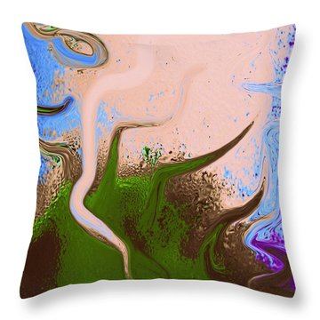 Dally With Dali Throw Pillow