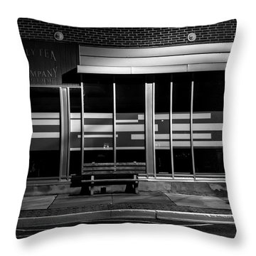 Daly Tea Company At Night Throw Pillow