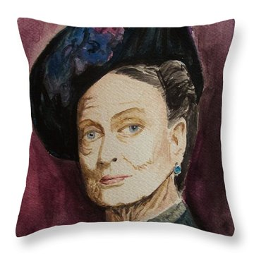 Dame Maggie Smith Throw Pillow by Amber Stanford