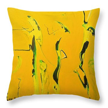 Dames Du Salon Francais Throw Pillow