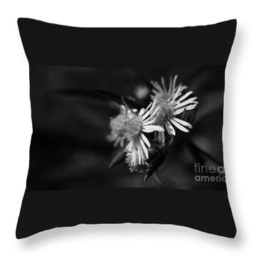Throw Pillow featuring the photograph Dames En Noir by Linda Shafer