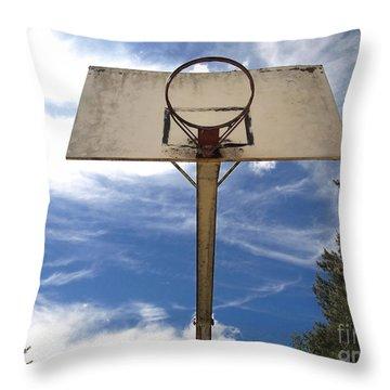 Damged Basketball Hoop Throw Pillow