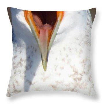 Damn Gull Moved Throw Pillow