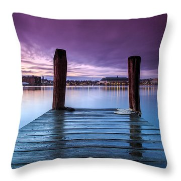 Damp Sunset Throw Pillow by Jennifer Casey