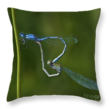 Damsel Love.. Throw Pillow by Nina Stavlund