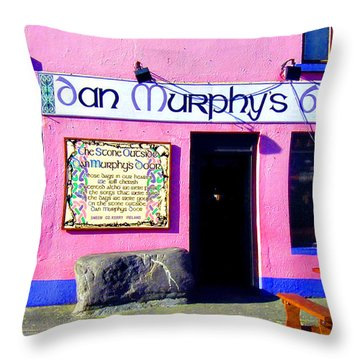 Dan Murphy's Bar Throw Pillow