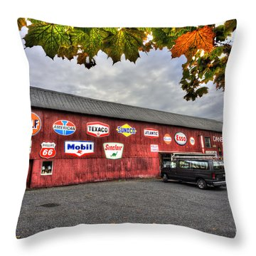 Dan S Antiques Building Throw Pillow by Dan Friend