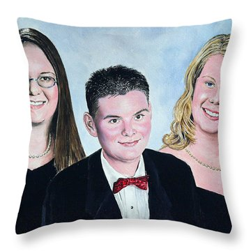 Dana Curtis And Viktoria Throw Pillow by Andrew Read