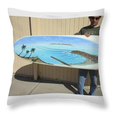 Dana Point 1950s Throw Pillow