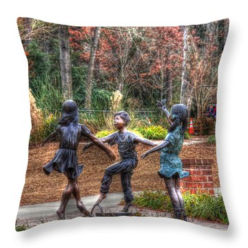 Dance Throw Pillow by Andy Lawless