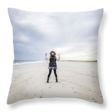 Dance At The Beach Throw Pillow