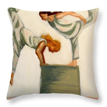 Dance Composition Throw Pillow by Whitney Morton