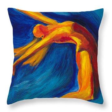 Dance Throw Pillow by Denise Deiloh
