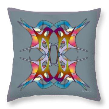 Dance Electric 3 Throw Pillow