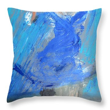 Dance In The Rain Throw Pillow by Keith Thue