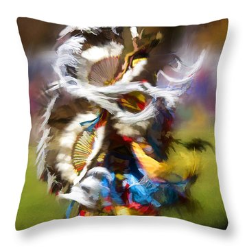 Throw Pillow featuring the painting Dance by Linda Blair