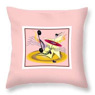 Dance Music Throw Pillow