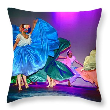 Throw Pillow featuring the photograph Dance by Nicola Fiscarelli