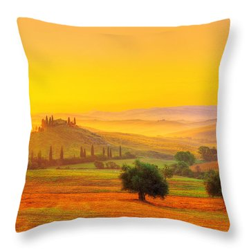 Dance Of Dawn Throw Pillow