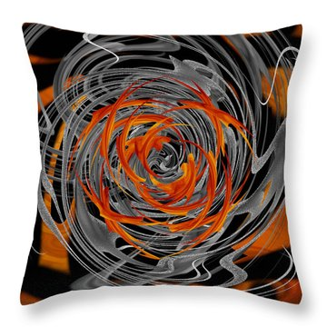 Throw Pillow featuring the digital art Dance Of Flame And Smoke by Roy Erickson