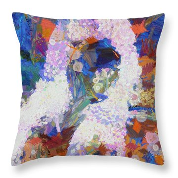 Throw Pillow featuring the painting Dance Of Fools by Joe Misrasi