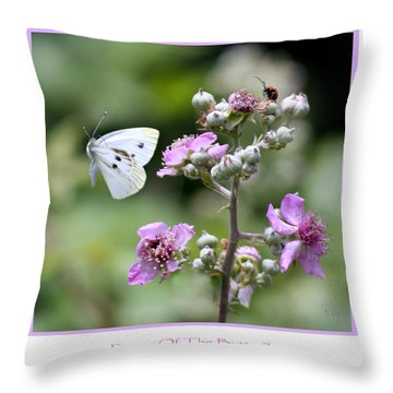 Dance Of The Butterfly Throw Pillow by Martina  Rathgens